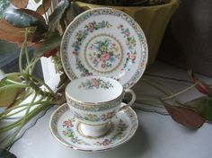 Antique Foley Bone China Teacup & Saucer 3 PIECE by TheHilltopShop, $22.00
