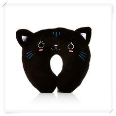 Black Cat Neck Pillow