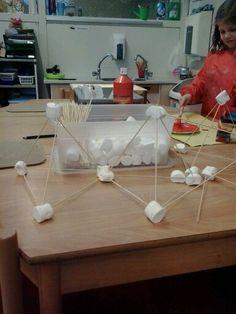 Satéstokjes en marshmallows