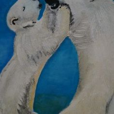 polar bears - Mother with child - Babetts Bildergalerie - polar bears - Mother with child The picture was painted with acyl and putty on canvas. Polar Bears, Brushed Metal, Stretched Canvas Prints, Adhesive Vinyl, Canvas Artwork, Custom Framing, Wall Murals, Children, Poster