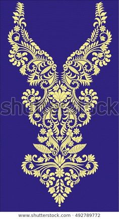 Discover thousands of images about Hungarian folk art Embroidery Neck Designs, Embroidery Motifs, Gold Embroidery, Embroidery Fashion, Machine Embroidery, Dress Design Drawing, Dress Design Sketches, Fashion Sewing, Lace Fabric