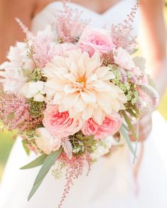 Next up on our lists of most memorable moments and details from this year on the #SouthernWeddings blog, we rounded up a few of the bouquets that stood out this year! Brittany's dahlia, astilbe, succulent, and rose bouquet by #BlueRibbonVendor @HollyChapple is at the top of our list--find more on #SouthernWeddings and let us know which one is your favorite! Photo by #BlueRibbonVendor @KatelynJames.