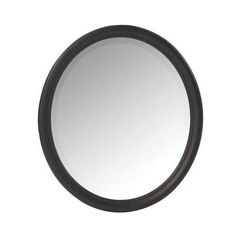 Home Decorators Collection Newport 32 in. H x 28 in. W Framed Wall Mirror in Black-1972800210 - The Home Depot