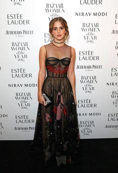 Emma Watson in Dior S17 (Look 63) at Harper's Bazaar Women of the Year Awards