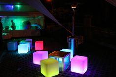 Cubes LED lumineux.