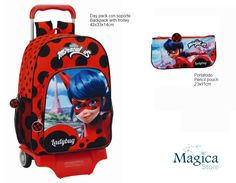 Ladybug Miraculous backpack Trolley 42cm + pencil case 22cm Brand New Official #LadybugNickelodeon