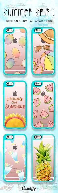 Get in the #summer spirit. Click through to shop these iPhone 6 case designs by @ WhatAColor >>> https://www.casetify.com/artworks/7jJ1DgsEVi | @casetify