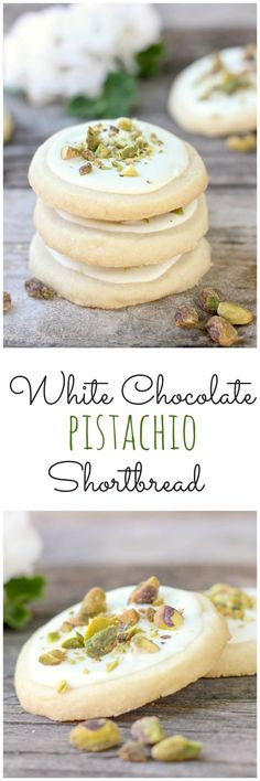 White Chocolate Pistachio Shortbread Cookies - pretty, simple and sweet!