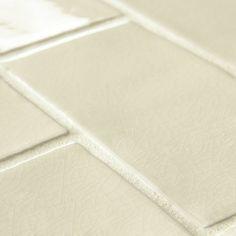 """Antiqua 3"""" x 6"""" Ceramic Subway Tile in Craquelle White"""