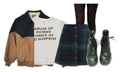 """""""be kind douglas"""" by platinum-smoker on Polyvore featuring ASOS, DrMartens, skirt, jacket, shirt and tights"""