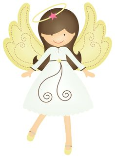 Angel Girl from Pixabay. Christmas Angels, Christmas Crafts, Royal Icing Templates, First Communion Cards, Baptism Cookies, Shrink Art, Angel Crafts, Clip Art, Shabby Chic Christmas