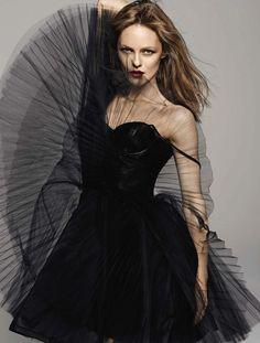 Black/ Vanessa Paradis for Grazia France 2013/ Alice & Olivia