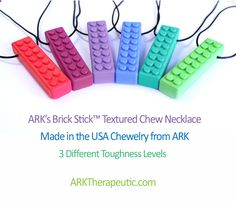 Cool new chewelry options from ARK!!  These latest ones are textured for sensory seekers :)