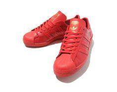 Adidas Originals Super Star 80′S LTHR – Red