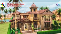 Mediterranean Homeby TheDismalSimmer Architectural Style: Mediterranean Lot type: Residential Lot Size: 30 x 20 Price: 149 593 Bed / Bath: 3 / 3 Description: Come check out this beautiful and. Spanish House, Spanish Style, Sims 4 House Building, The Sims 4 Lots, Sims House Design, Casas The Sims 4, Mediterranean Style Homes, Sims 4 Build, Suburban House