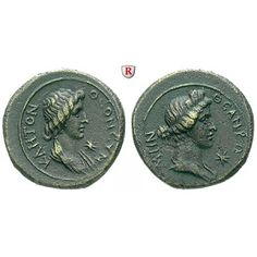 Römische Provinzialprägungen, Mysien, Pergamon, Autonome Prägungen, Bronze 41-68, vz: Autonome Prägungen . Bronze 41-68. Drapierte… #coins