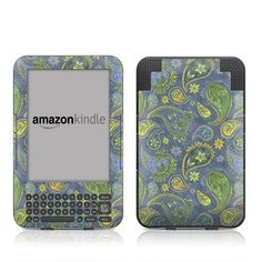 Pallavi Paisley Amazon Kindle Keyboard / Keyboard 3G (3rd Gen) E-Book Reader - Matte Satin Coating by MyGift. $16.99. This scratch resistant skin sticker used Matte / Satin Coating which is the standard glossy finish and helps to protect your Kindle Keyboard / Keyboard 3G (3rd Generation - release in July 2010) E-Book Reader while making an impression. Self-adhesive plastic-coated skins cover the front and back surfaces of the Kindle 3rd Generation and are custom cut to pe...