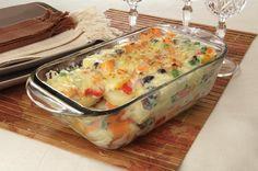 Clique e veja a receita de Batata à grega gratinada! Também veja dicas de como fazer Batata à grega gratinada com ingredientes deliciosos e se tornar um verdadeiro chef de cozinha!