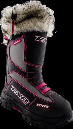 Excursion Boot - Motocross Gear, Snowmobile Apparel, Racing Jackets - FXR Racing..............love it as long as that is not real fur!!!