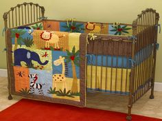 Jungle Baby Room Ideas with animal theme blanket - Pinned for BabyBump, the #1 mobile pregnancy tracker with the built-in community for support and sharing. #nursery