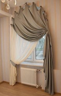 Best Modern Farmhouse Living Room Curtains Decor Ideas - Home Professional Decoration Curtains For Arched Windows, Rideaux Design, Farmhouse Window Treatments, Arched Window Treatments, Diy Curtains, Window Curtains, Curtains Living Rooms, Curtains For Bedroom, Curtain Valances
