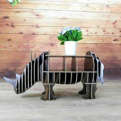 rhinoceros bookshelf bookcase bookshelf nordic style model room animal shapes furniture bookcase commodity
