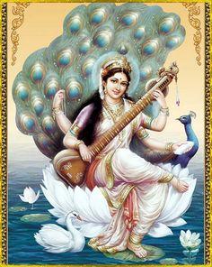 Happy Basant Panchami 2020 Wishes, Images,Status,Shayari,quotes Lord Saraswati, Saraswati Goddess, Goddess Art, Goddess Lakshmi, Shiva Hindu, Krishna Art, Hindu Deities, Hindu Art, Saraswati Picture
