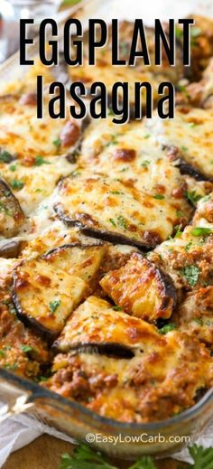 This easy eggplant lasagna will satisfy the heartiest of eaters while accommodating the more low carb crowd easylowcarb eggplantlasagna easyrecipe lowcarb healthy eggplant maincourse cauliflower tinga tacos Clean Eating Snacks, Healthy Eating, No Carb Healthy Meals, Healthy Food, Low Carb Vegetarian Recipes, Diabetic Recipes, Easy Low Carb Recipes, Healthy Vegetarian Recipes, Low Carb Hamburger Recipes