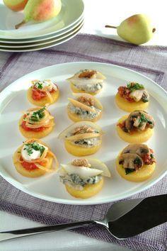 Pizzette assortite di polenta