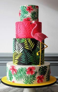 """Spaß-Flamingo-Kuchen - Spaß-Flamingo-Kuchen - Spaß-Flamingo-Kuchen Loïc n'est pas un """"chef"""" mais un fou de cuisine ! Ses grands-parents et parents sont à la base de son éducation culinaire et. Flamingo Cupcakes, Flamingo Party, Flamingo Birthday, Hawaiian Birthday Cakes, Hawaiian Cakes, 14 Birthday Cakes, Hawaiian Party Cake, Luau Cakes, Cake Gallery"""