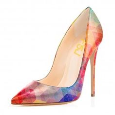 2018 Multi-color 5 Inches Stiletto Heels Pointy Toe Pumps 486854262eed