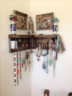 Jewelry Organizer ❤️My handyman did such a good job! #mancrafty