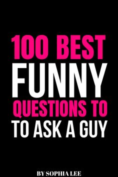 Looking for funny questions to ask a guy? These questions are guaranteed to start some hilarious conversations! 100 Questions To Ask, Questions To Ask Your Boyfriend, Funny Questions, Relationship Goals Tumblr, Long Distance Relationship Quotes, Boyfriend Humor, Dating Advice, Hilarious, Guys