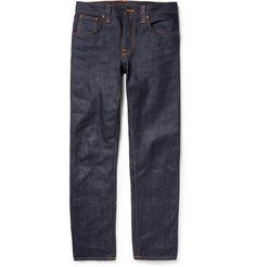 Nudie Jeans Steady Eddie Regular-Fit Organic Dry-Denim Jeans | MR PORTER