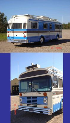 Roof rack extraordinaire ! Cool Rvs, Rv Motorhomes, Open Roads, Retro Campers, Bus Camper, Bus Conversion, Vintage Travel Trailers, Tent Camping, Being Ugly