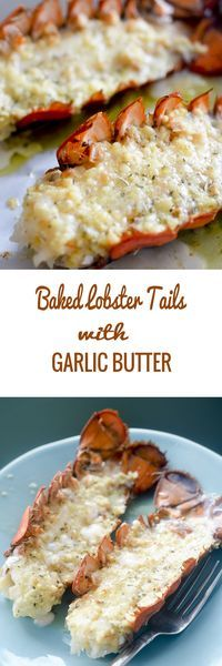 Baked Lobster Tails with Garlic Butter #seafood - Recipe Diaries Lobster Tail Recipes, Simple Lobster Tail Recipe, Grilled Lobster Recipes, Baked Meat Recipes, Crockpot Fish Recipes, Healthy Seafood Recipes, Bonefish Grill Recipes, Baked Dinner Recipes, Seafood Pasta Recipes