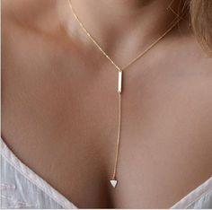 Fino gargantilha colares colares pingente triângulo WN012 em Colares com pingente de Jóias no AliExpress.com | Alibaba Group