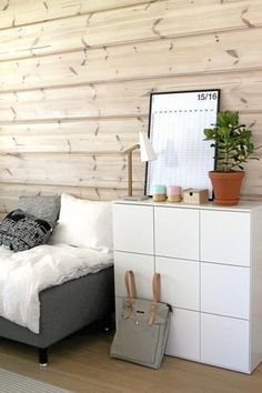A peaceful room for kids. Natural design is the new trend in Scandinavian / Japanese interior design.
