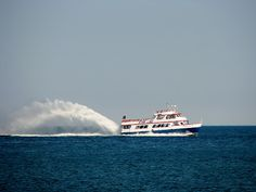 The Star Line Mackinac Island Hydro-Jet Ferry is the perfect way to explore the waters of Lake Michigan on a vacation on Mackinac Island in northern Michigan.
