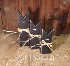 Primitive Black Cat - Halloween Decor Halloween Decorations - GFT Woodcraft