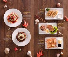 Key Visual, food styling and menu design for Asian House. Carta Restaurant, Restaurant Menu Design, Restaurant Identity, Food Menu Design, Food Poster Design, Steak House Menu, Asian Cafe, Sushi Menu, Japanese Menu