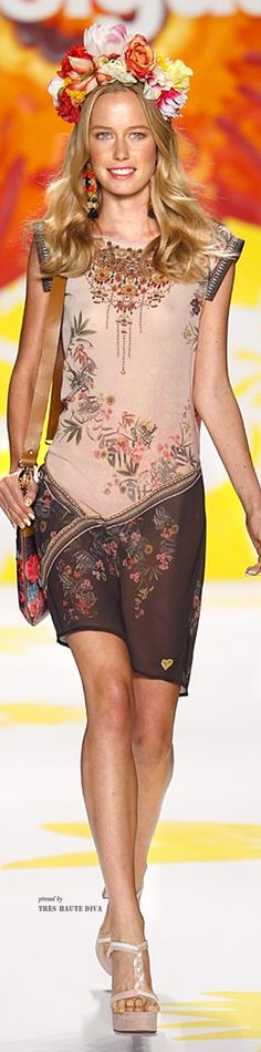 #NYFW Desigual Spring 2015 RTW (Collection 'Say Something Nice for Spring designed by Christian Lacroix)  Ana Borba