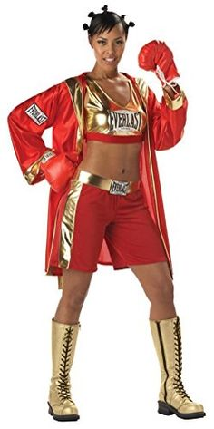 POPLife Women Everlast Boxing Contender Costume ** Continue to the product at the image link.