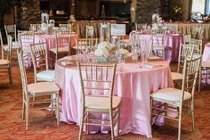 Pink and Gold themed Reception with chiavari chairs at Cili Restaurant | Photo by: C Ward Photography