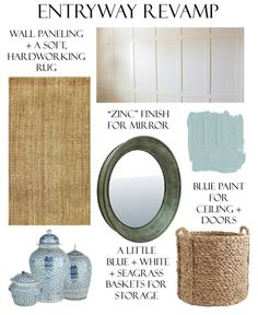 mini makeover plan for the foyer.  big change, small budget.  Bungalow Blue Interiors.