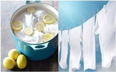 Los mejores trucos y consejos para que nuestra ropa vuelva a lucir blanca. Diy Cleaning Products, Cleaning Hacks, Healthy Tips, Declutter, Clean House, Punch Bowls, Home Remedies, Sweet Home, Diy Crafts