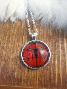Silver Spider Man Necklace Large Pendant Super Hero Jewelry ~ Sale Expires Today