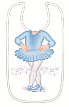 Just Add a Kid 'Ballerina Blue' Bib available online at http://www.babycity.co.uk/