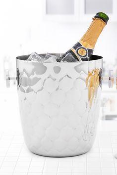 ODI HOUSEWARES Avante Embossed Stainless Steel 5 Qt. Champagne Bucket