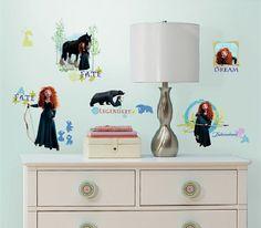 Brave movie merchandise   Walt Disney's Brave Movie Peel and Stick Wall Stickers Appliques NEW ...